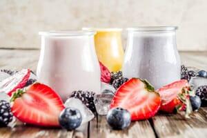 fruit and kefir smoothie